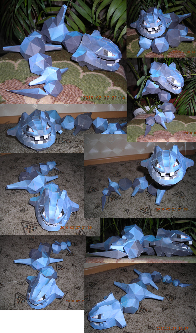 Steelix papercraft 2 by Weirda208