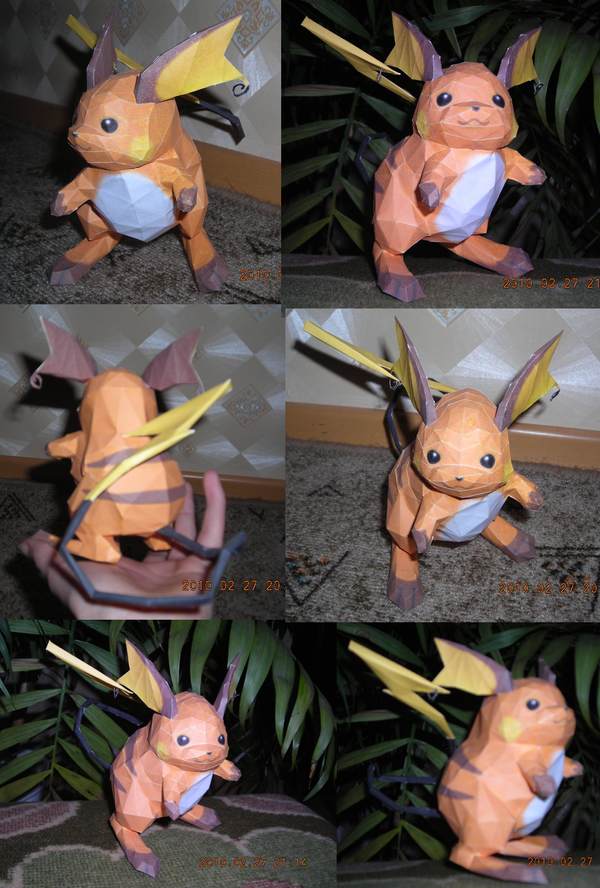 Raichu papercraft by Weirda208