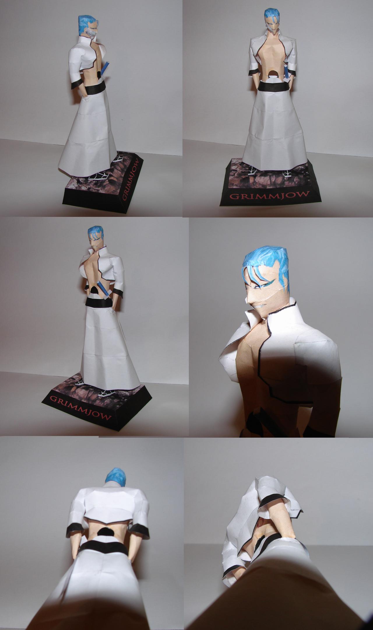 Grimmjow papercraft model by Weirda208