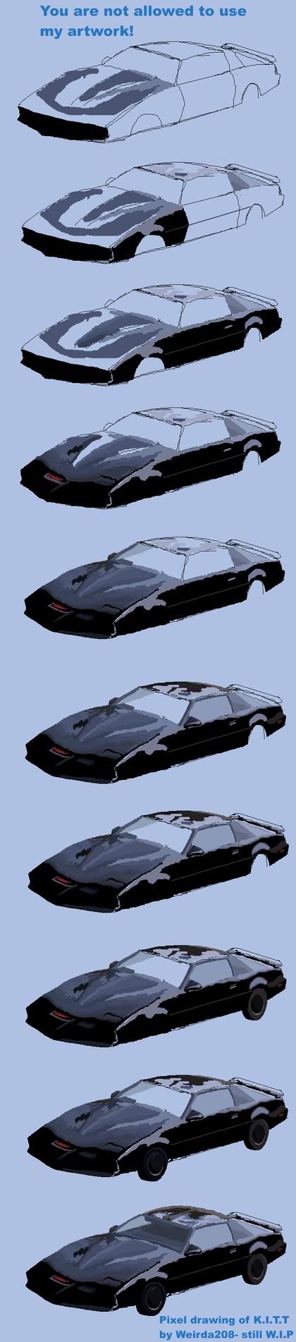 Pixel K.I.T.T- progress of broken work by Weirda208