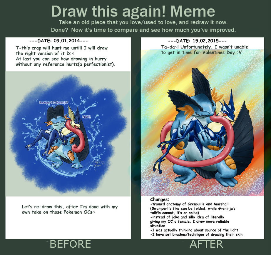 Draw This Again Greninja X Swampert By Weirda S M Art On Deviantart