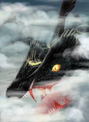 Black Rayquaza by Weirda-s-M-art