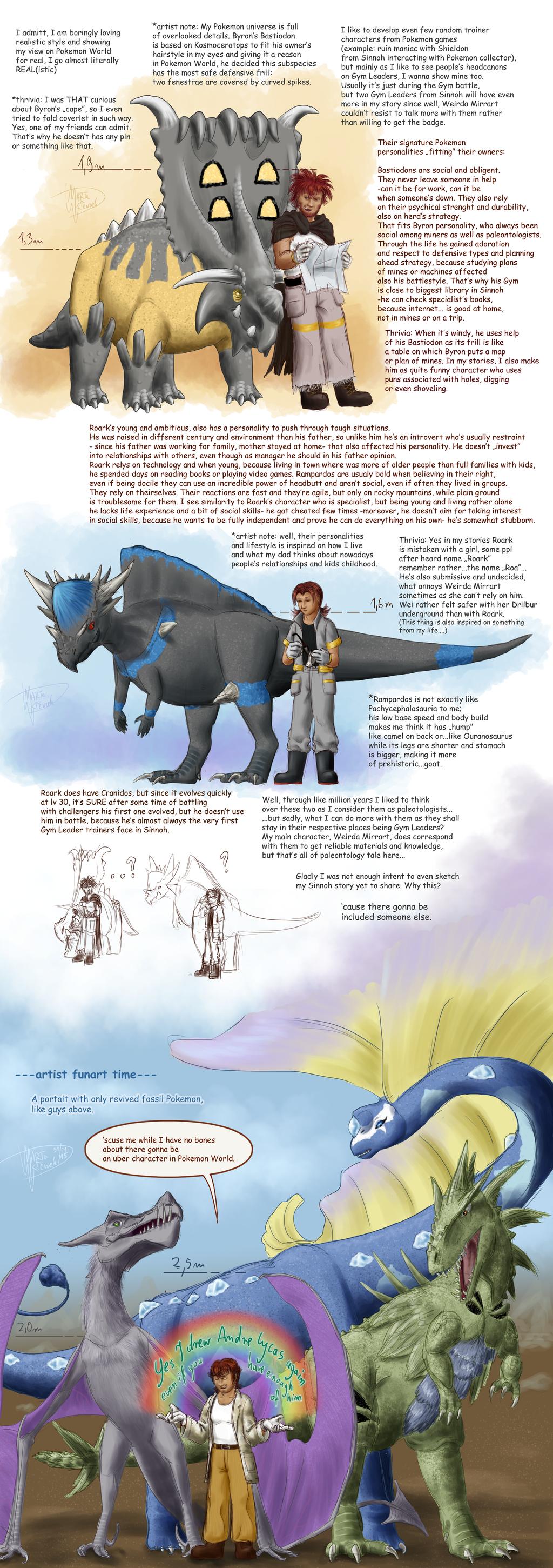 Pokemon Paleontologists trio by Weirda-s-M-art