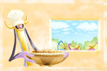 Aegislash as a baker by Weirda-s-M-art