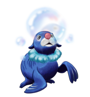 Popplio for Collab by Weirda-s-M-art