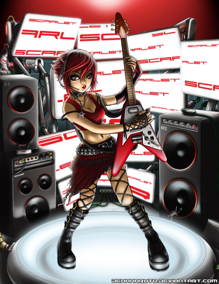 Scarlet The Rocker by jehanaruto