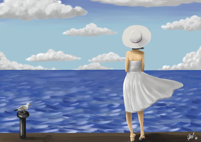 Somewhere Beyond The Sea by jehanaruto