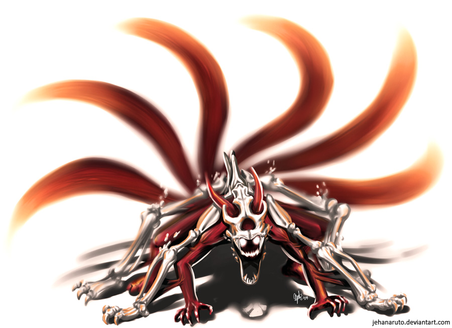 Naruto 6 Tails Kyuubi by jehanaruto on DeviantArt