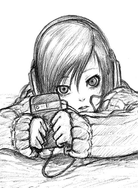 Random sketch lulu by jehanaruto