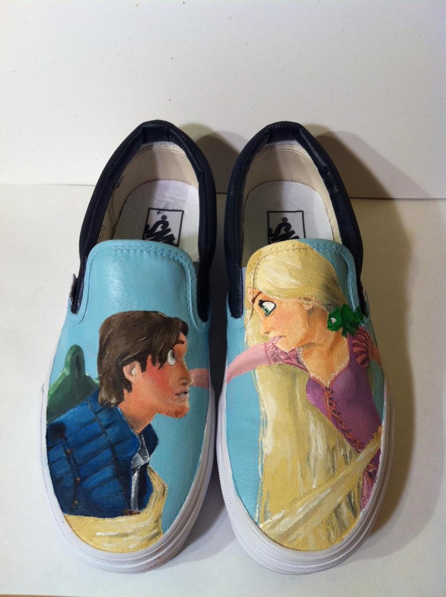 Tangled Shoes by hayleykayarts