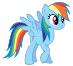 Rainbow Dash Smile- vector