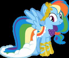 Rainbow Dash Gala Dress- vector by PonyCanDance