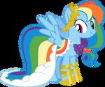 Rainbow Dash Gala Dress- vector