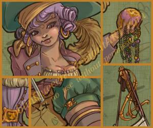 Mardi Gras 2008 details by GoblinQueeen