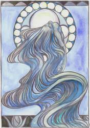 Flow: Water Sprite-Nymph by GoblinQueeen