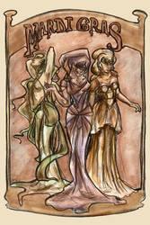 Mardi Gras: the Triad by GoblinQueeen