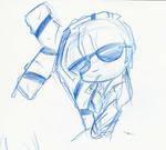 Chibi Wolfwood Sketch