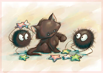 Fluffballs... by GoblinQueeen