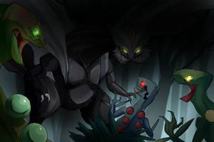 Jurassic Pokemon: Indominus by MissStrangeress