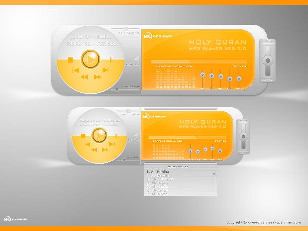 Holy Quran MP3 Player Skin by riyaz7cp