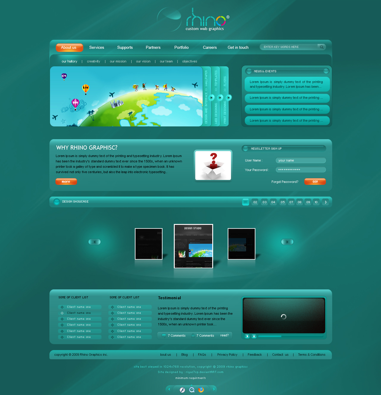 Rhino web graphics by riyaz7cp
