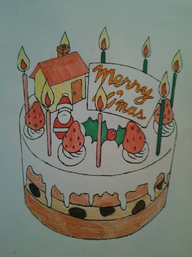 Cake Artist Nj : Merry Xmas Cake by MissSerbianJelena on DeviantArt