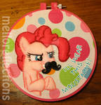 Pinkie Pie Embroidery Hoop