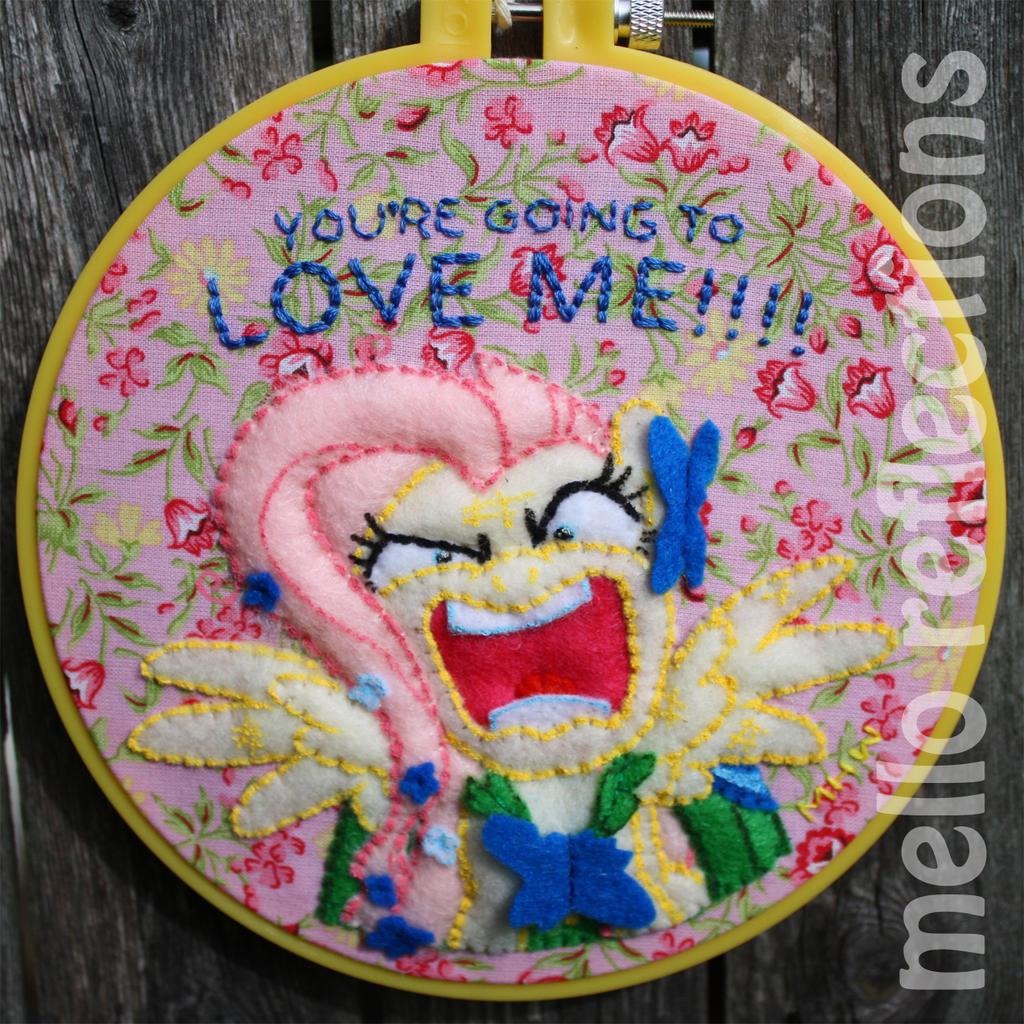 Fluttershy Embroidery Hoop