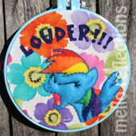 Rainbow Dash Embroidery Hoop