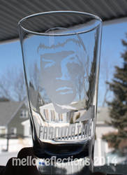 Spock Etched Glass