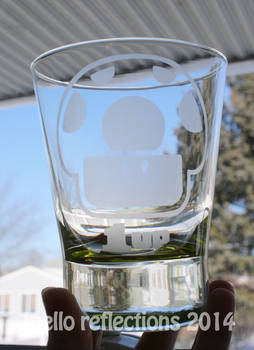 1up Etched Glass