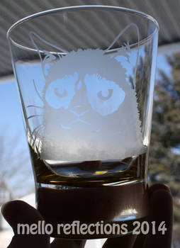 Grumpy Cat Etched Glass