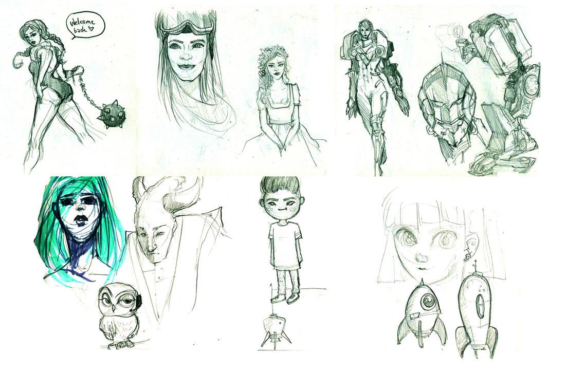 Sketchdump by Maripon