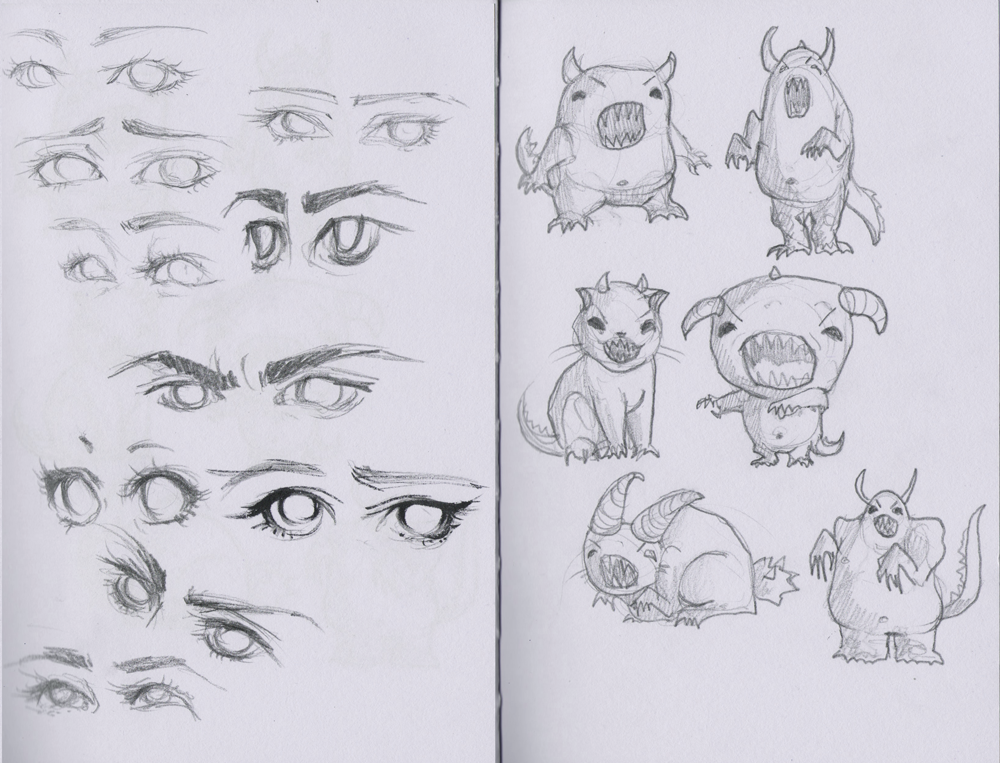 Eyes and monsters by Maripon
