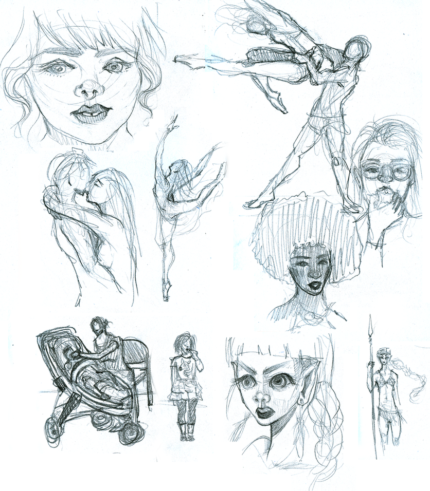 Sketches August 2015 1 by Maripon