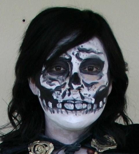 Asymmetric Face Paint Design