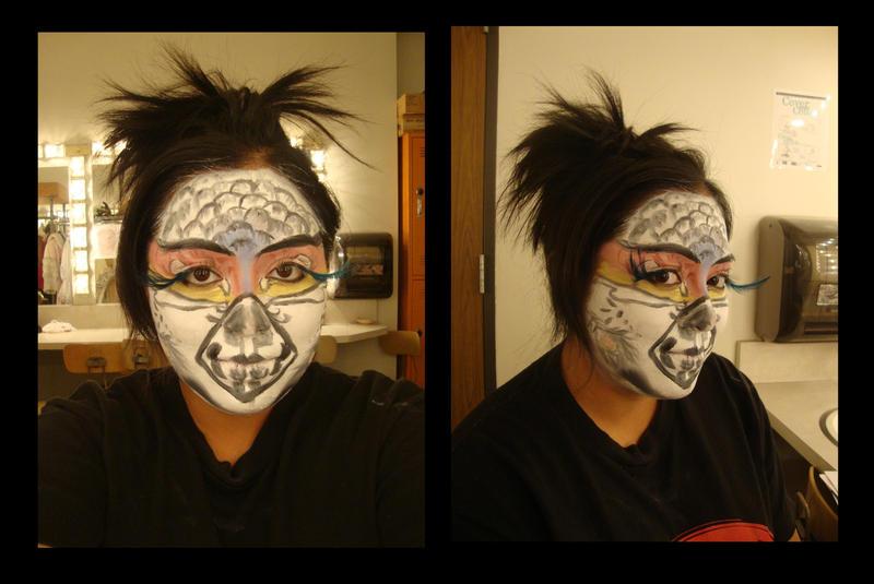 Stage Makeup: Tropical Bird by ~FencesMakeGoodNebors on deviantART