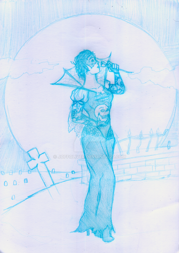 Midnight Rose pencils by JoffOliver