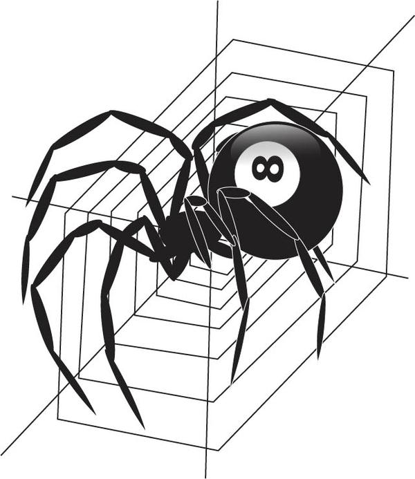 magic 8 ball spider by rtistry on deviantart. Black Bedroom Furniture Sets. Home Design Ideas