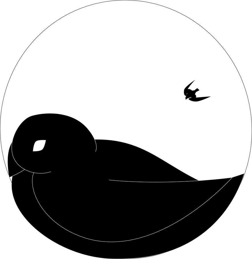 yin and yang birds by Rtistry
