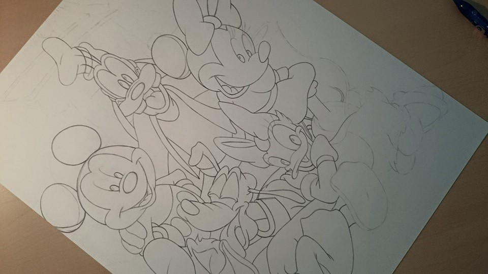 Mickey and Friends WIP #2 by Nicksta100