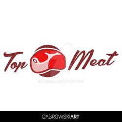 Top Meat logo concept