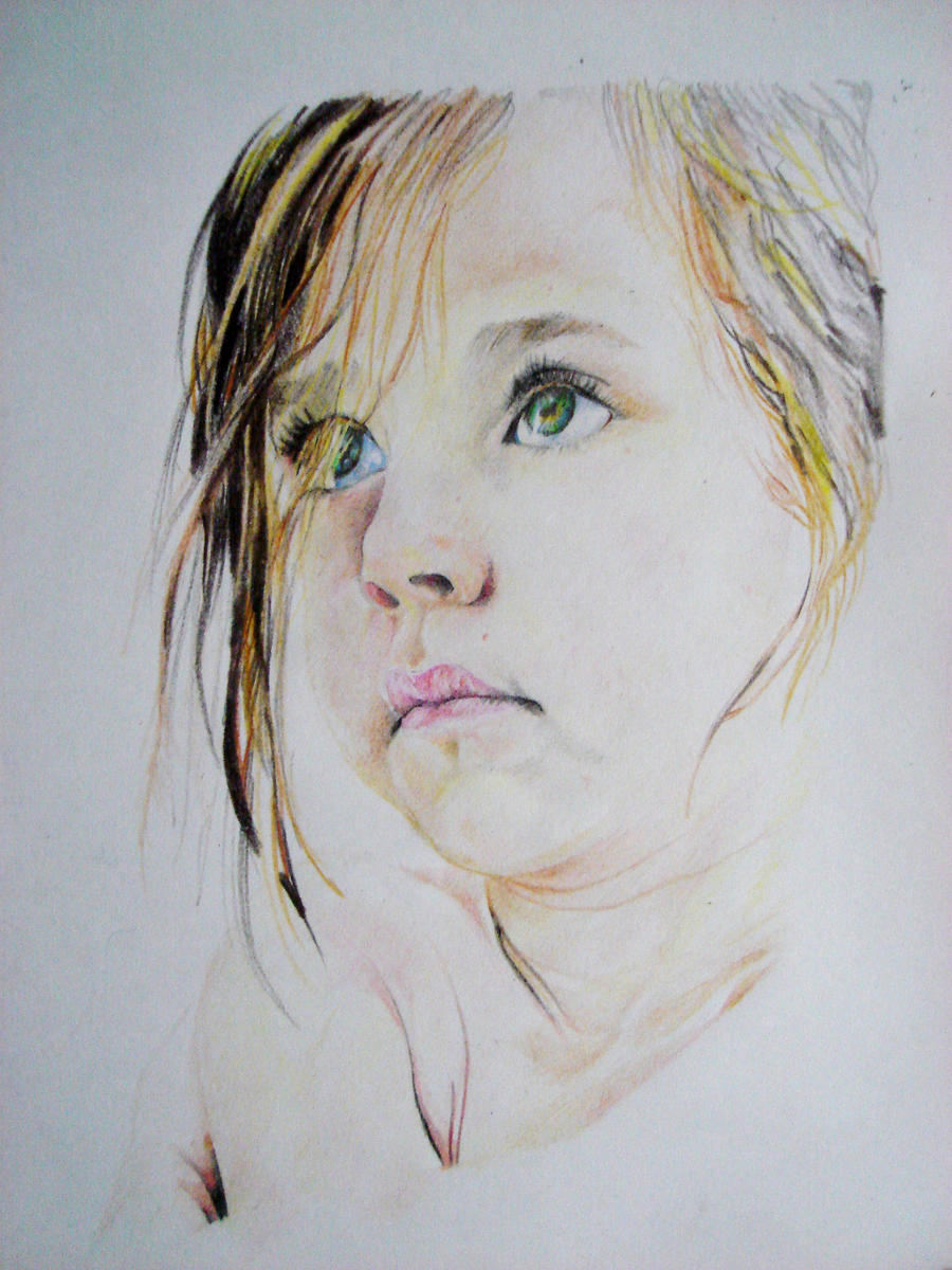 pencil crayon portrait by G3NIUS-PRODUCTIONS on DeviantArt