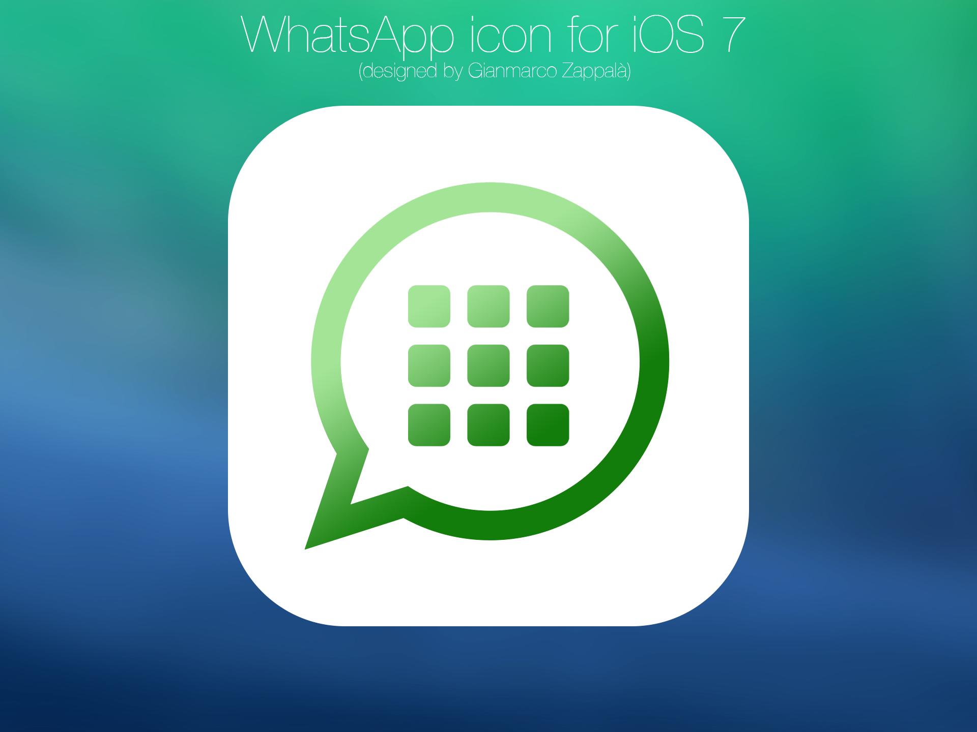 WhatsApp icon for iOS 7 by gianmarcozappala on DeviantArt