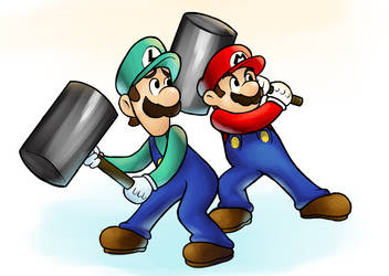 Hammer Bros | Mario and Luigi Superstar Saga by BobberWCC