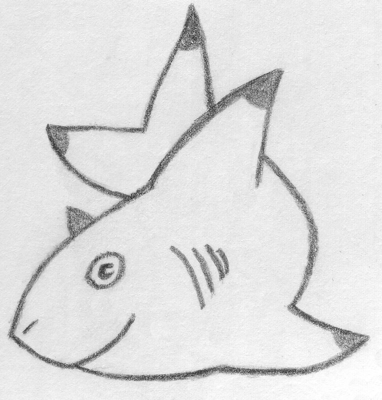 Cute Baby Shark Drawing  Cute Baby Shark...