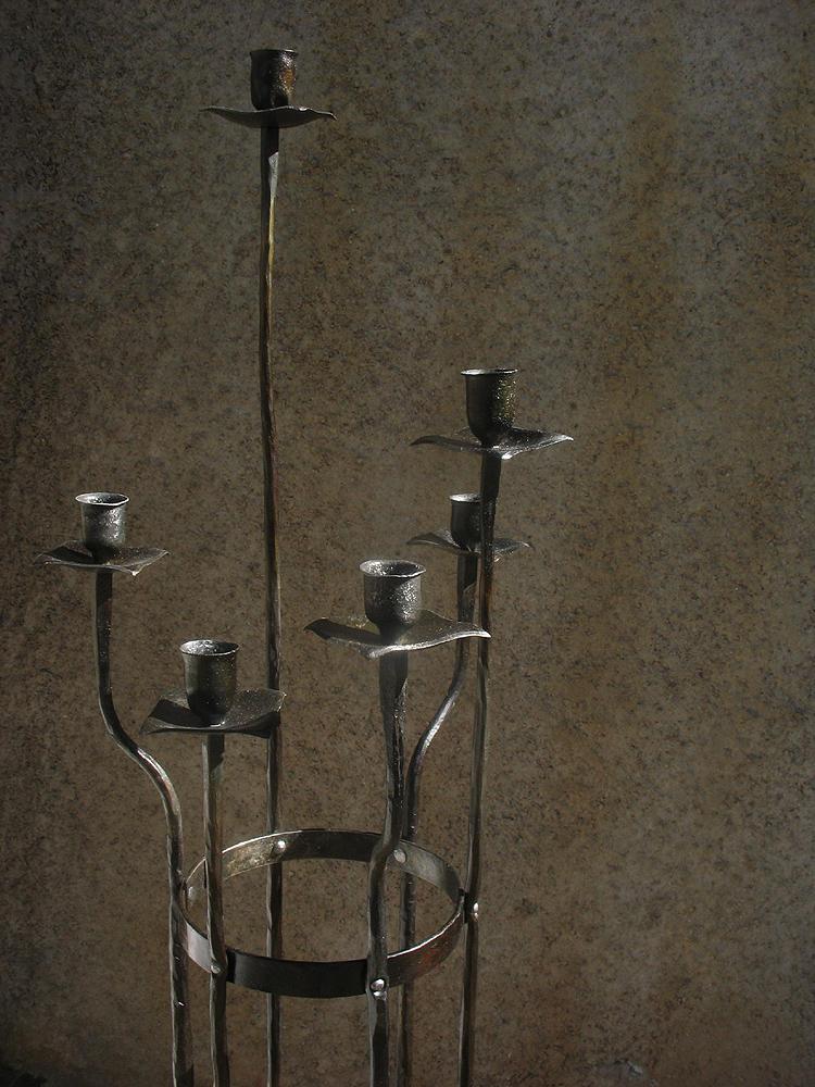 Floormount candlestick closeup