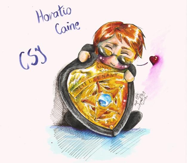 chibi Horatio Caine by SirSubaru