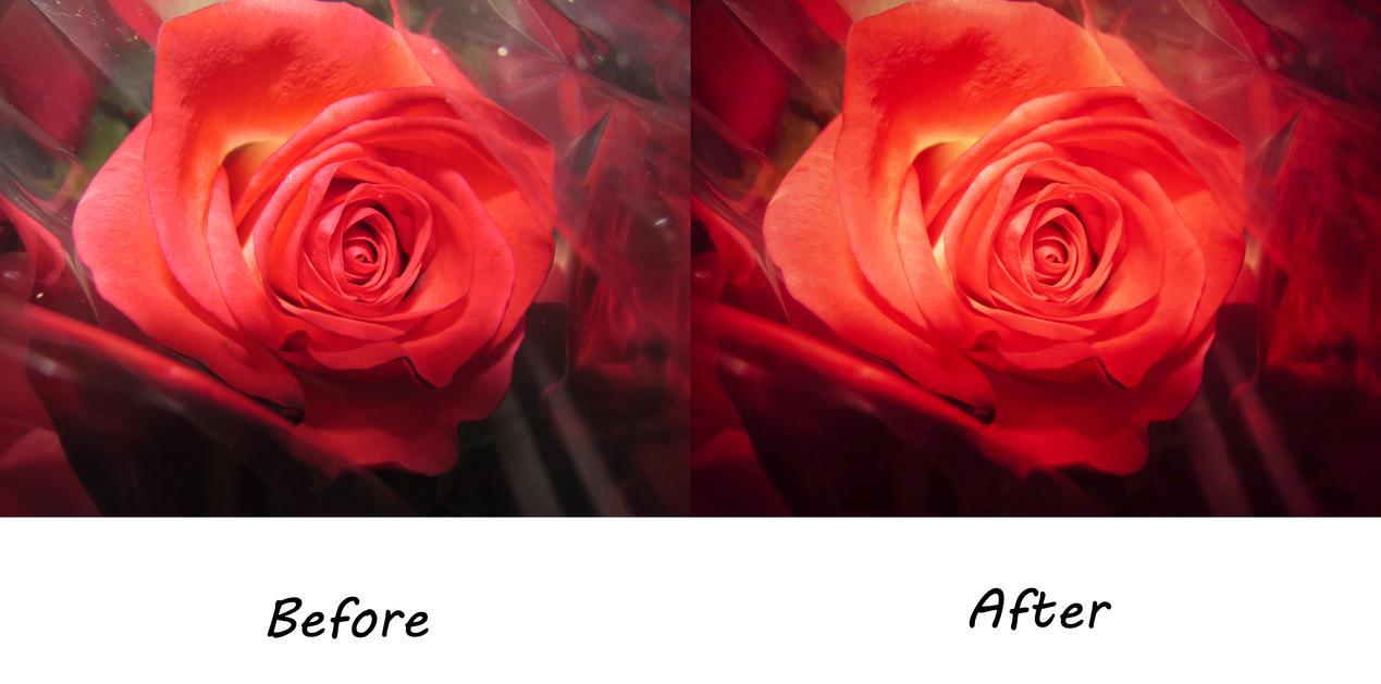 Red Before/After by EveVictus