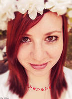 Redhead Flower Goddess Portrait
